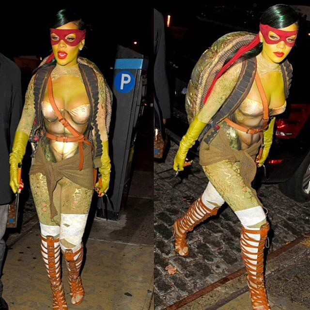 rihanna turtle costume (10)