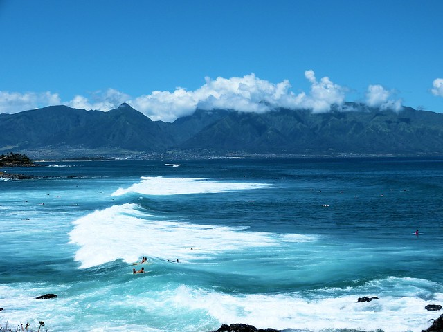 Maui West Mountains and Coast, seen from Hookipa, Sue Salisbury Maui Hawaii