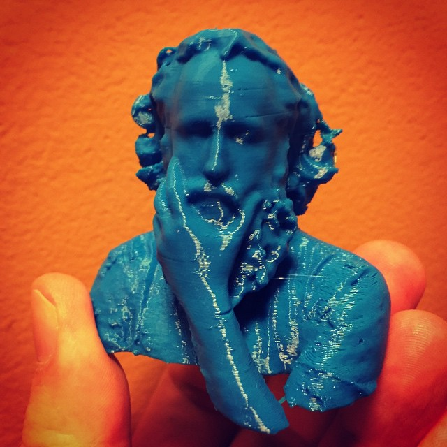 I think #3dprinted @kk is a little blue today