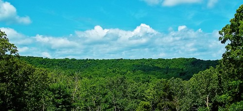 trees sky clouds skyscape landscape scenery view missouri vista bickel