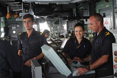 Replenishment at Sea procedures take skill from those sailors on the bridge
