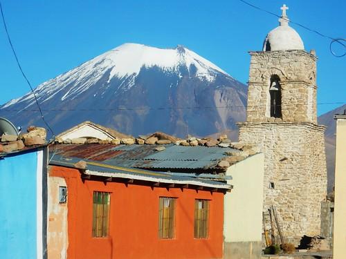Sajama village & Parinacota volcano - Bolivia
