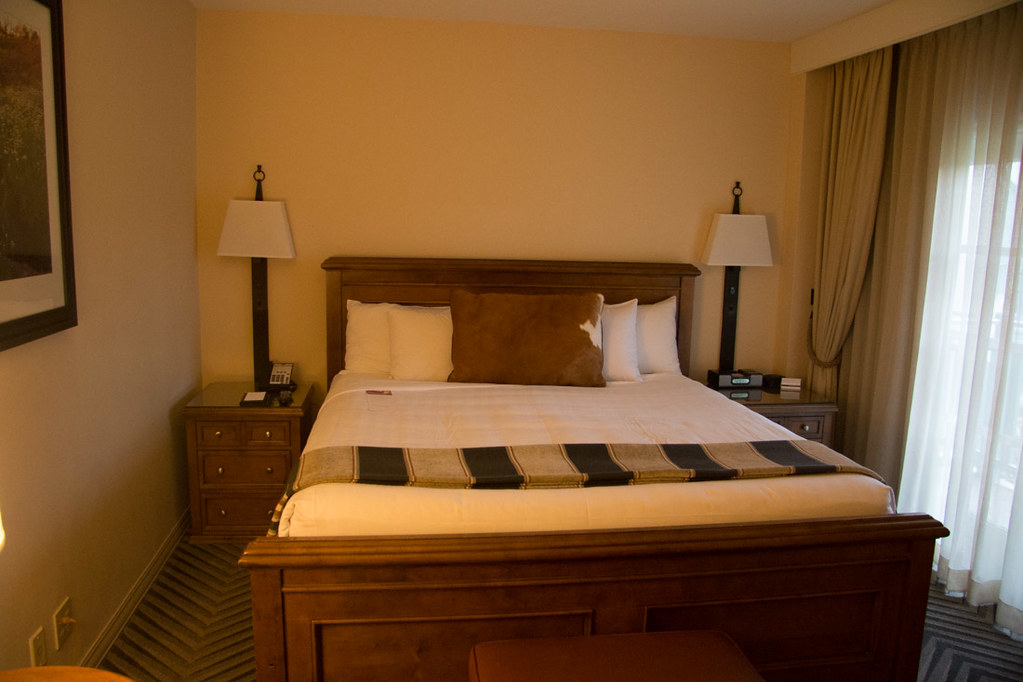 Bedroom in the 1 bedroom suite at Hyatt Hill Country Resort and Spa