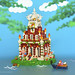 The Hoan Kiem Lake temple island. by Hoang H Dang