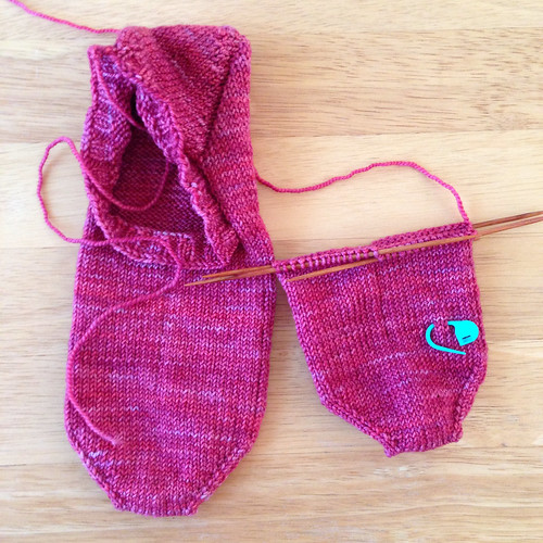 Knitting Patterns Footie Socks : Pink Lemon Twist