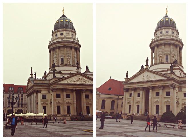 Gendarmenmartk-aukion kaksi kirkkoa: saksalainen ja ranskalainen