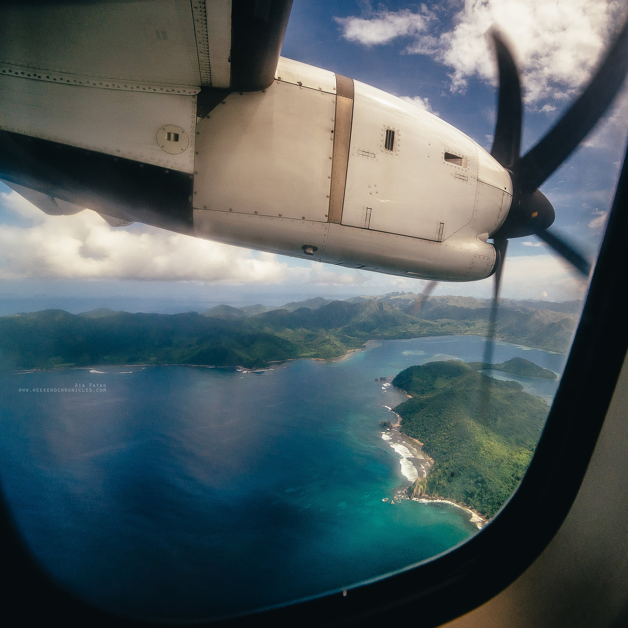 Through Cebu Pacific's dirty window