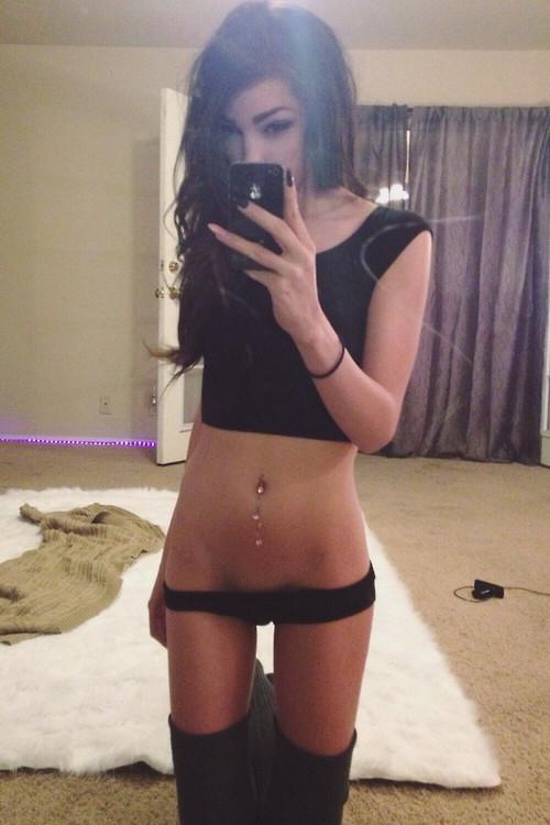 Skinny Brunette Teen On 68