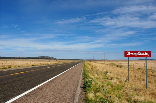 Burma Shave signs on westbound Route 66, Arizona