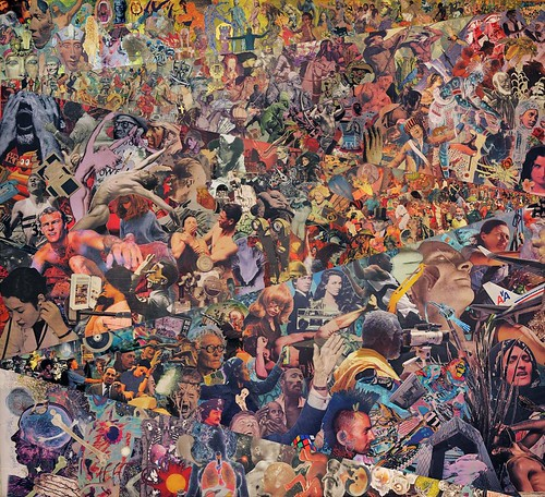 Aaron Morse, Timeline (Humanity), 2010-2011, acrylic and collage on canvas