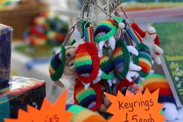 Rainbow the tortoise keyrings