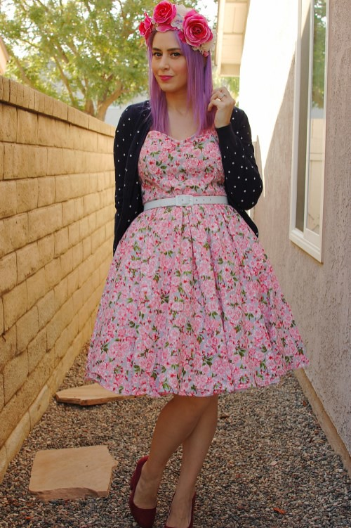 Bernie Dexter Belle dress in Pink Blossom 003