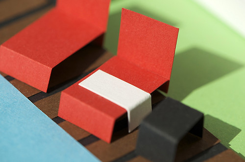 Paper Sculpture Pool Furniture