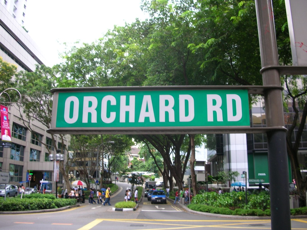 Orchard Road Sign Post