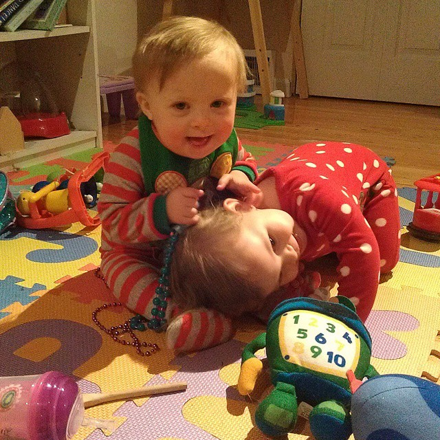 Spent a few hours with some of our favorite people tonight. Liam loves his buddy, Violet!