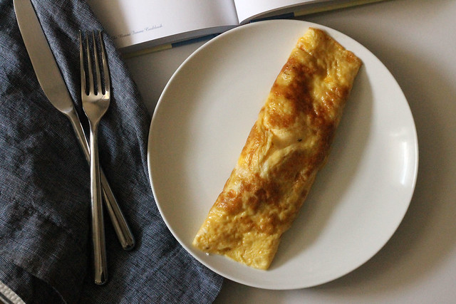 feta and dill omelette