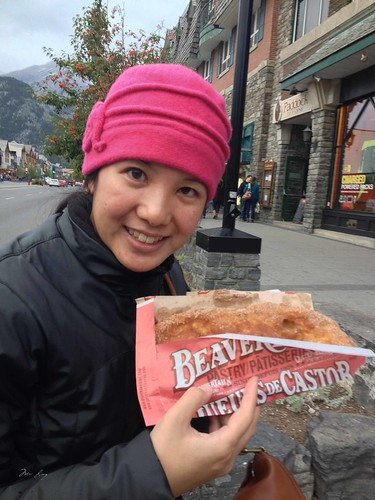 Mei with her beaver tail.