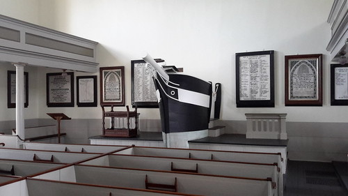 Prow-shaped pulpit in the Seamen's Bethel