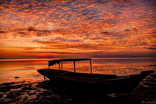 travel sunset sky beach clouds sunrise indonesia island boat colorful asia colourful traveling southeast sulawesi wakatobi flaming banca hoga
