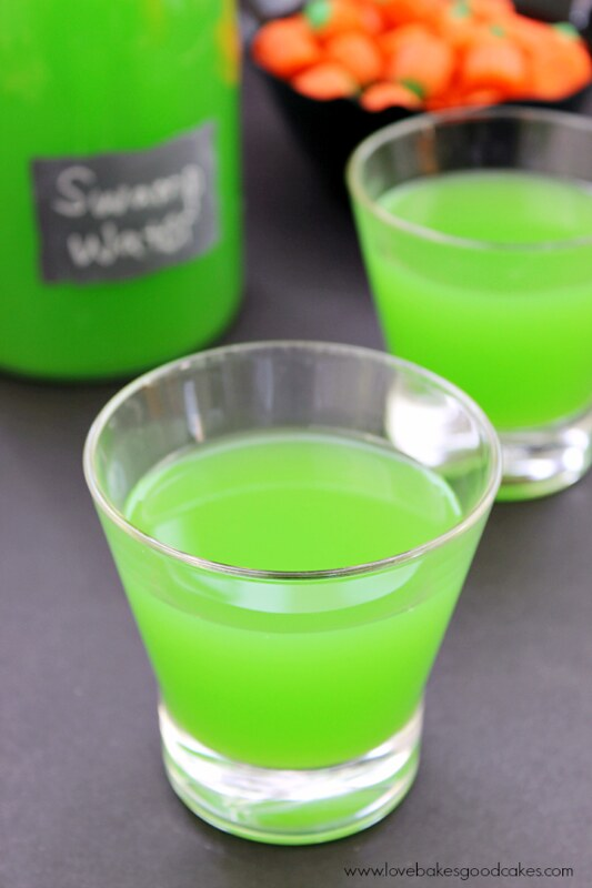 Get in the Halloween Spirit with this Swamp Water drink! Fun and delicious - not to mention super cool looking!
