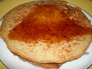 Apple-Cinnamon Cornmeal Pancakes