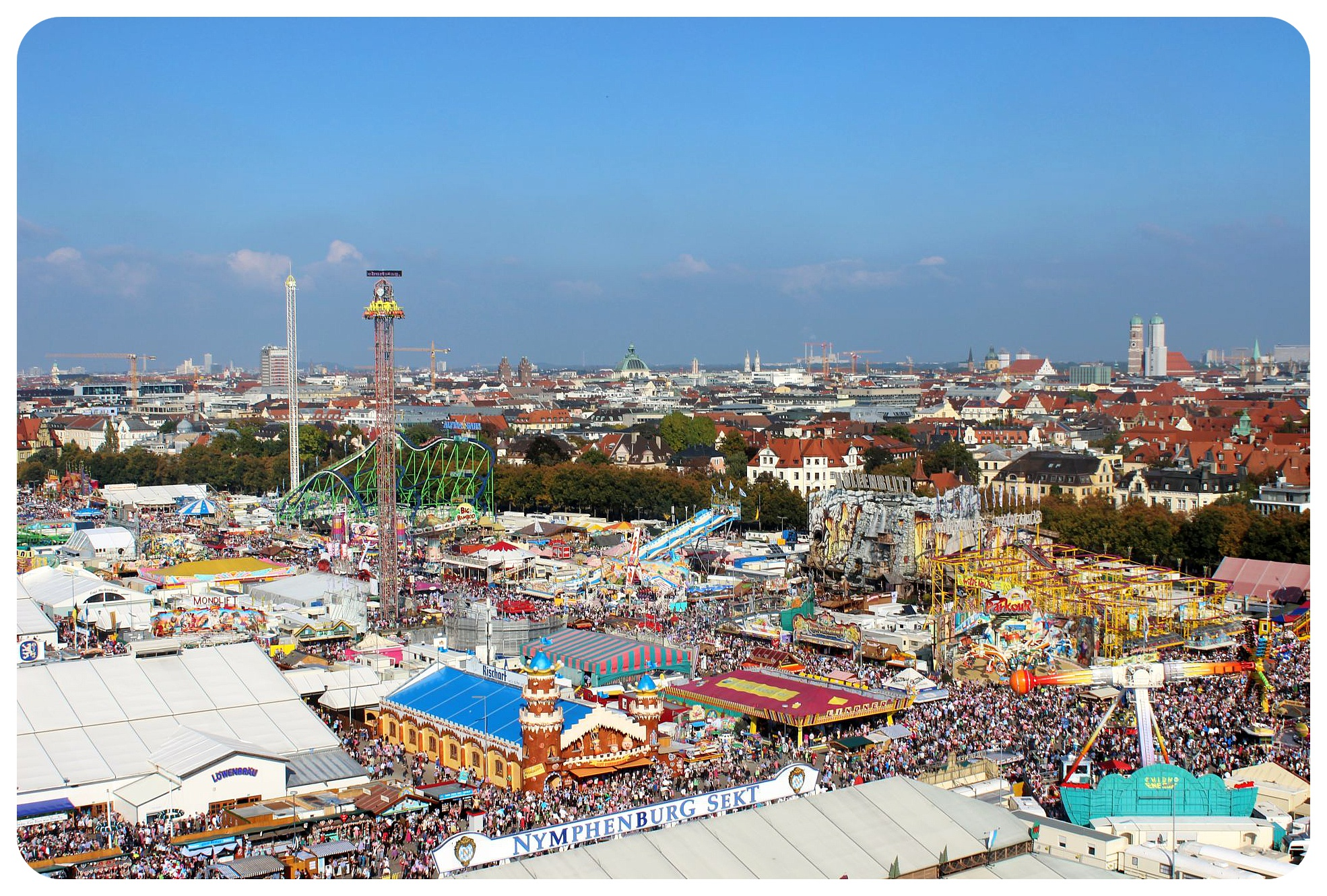 oktoberfest 2014 rides and crowds