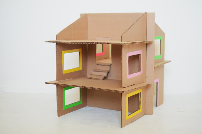 Diy Recycled Cardboard Dollhouse CAKIES