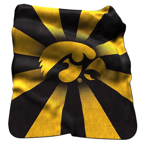 Iowa Hawkeyes NCAA Raschel Blanket