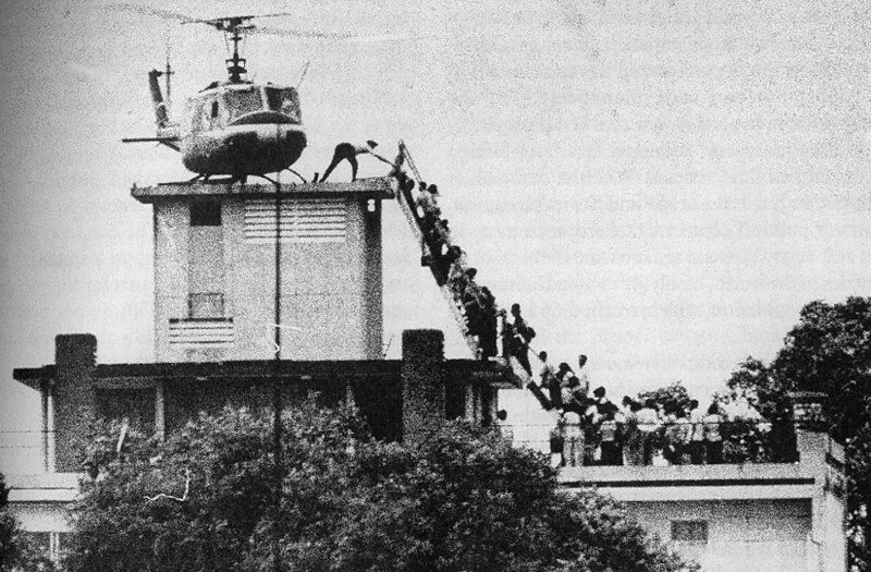 Evacuation of CIA station personnel from Saigon by Air America