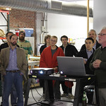 Factory 500 members tour Etna Studios and River Projects, and visit E Town Bar and Grille on October 18, 2014.