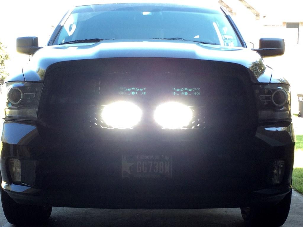 Behind The Grill Led Light Bar Dodgetalk Dodge Car