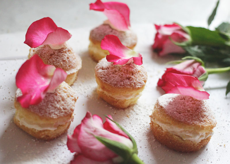 rosewater petit fours