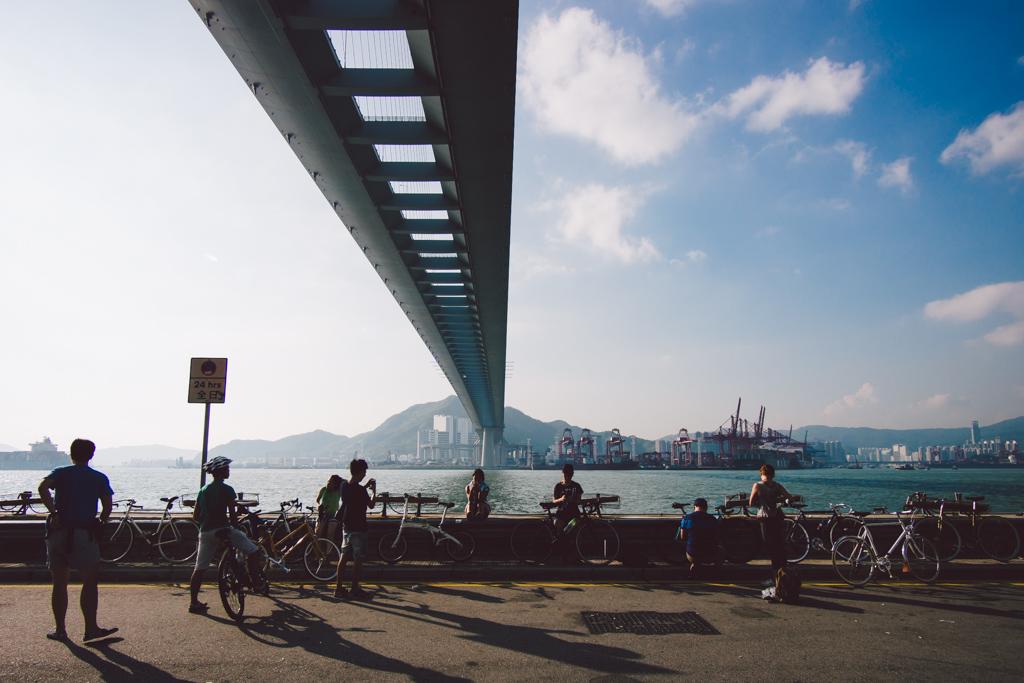 昂船洲大橋橋底 昂船洲大橋橋底 本地單車美景#003 昂船洲大橋橋底 15507868376 b54045ae7c b