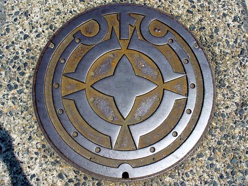 Miyazu Kyoto, manhole cover 2 (京都府宮津市のマンホール2)