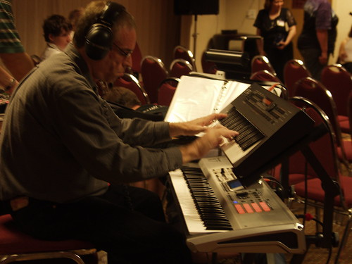 Brad Weage on keyboards