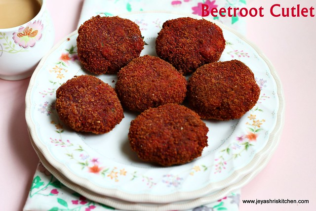 Beetroot cutlet recipe no onion no garlic recipes jeyashris kitchen beetroot cutlet i tried few months back and that too without onion and garlic initially i was bit skeptical about the output but to my surprise it was forumfinder Images