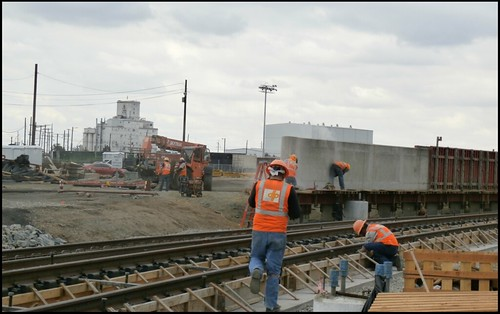 Photo of Rail installation along 40th Avenue in Denver