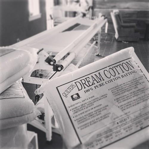 Breaking into my stash. ❤️ @quiltersdream #myfavorite #longarmquilting
