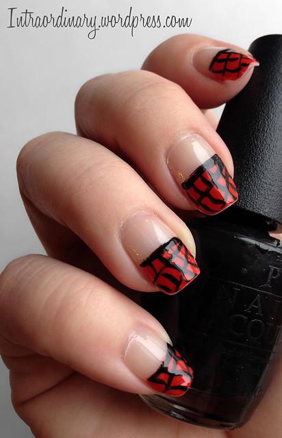 Spiderman Nails