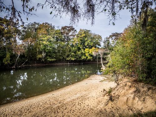Savannah River from Stokes Bluff with LCU Nov 7, 2014, 4-18 PM Nov 8, 2014, 8-44 AM