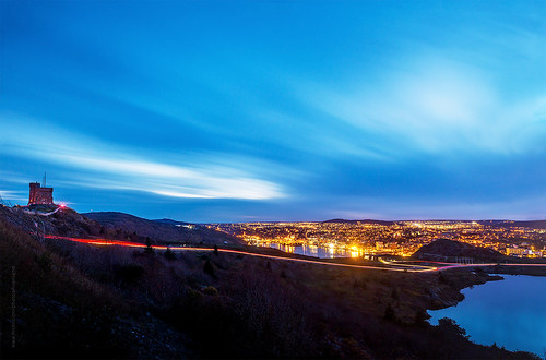 city longexposure panorama canada fall skyline night port newfoundland landscape evening twilight nikon scenery downtown cityscape harbour dusk hill wide stjohns panoramic bluehour nfld nightfall atlanticcanada lighttrail d600 couldy stjohnsharbour newfoundlandandlabrador downtownstjohns nikond600