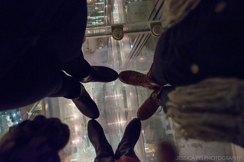 Standing on Top of Glass Skydeck