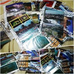 Me perder em boas lembranças enquanto organizo minha coleção de cartões postais.  #100happydays #day78