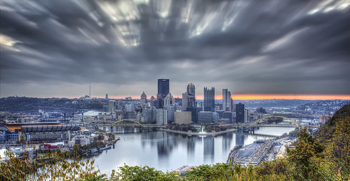 skyline sunrise october pittsburgh cityscape pennsylvania 2014 westendoverlook steelcity
