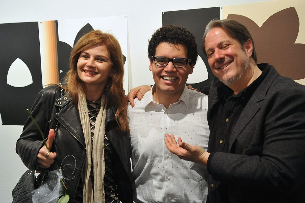 "<p>Eliza Anna Falk, Literary Director of Ambassador Theater with Marlowe Vilchez( Rage) and the director of ""Rage"", Joe Banno<br /> <br /> Photo By Val Radev</p>"