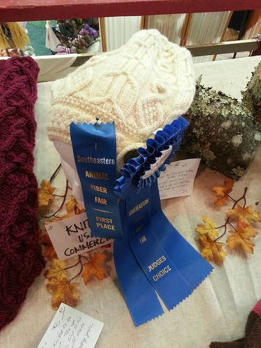 First Place ribbon AND Judge's Choice ribbon on my hat!