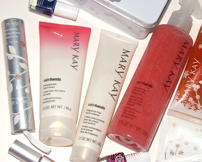 mary kay satin hands pampering set- pomegranate