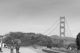 Golden Gate Bridge - View from the Pavillon parking lot