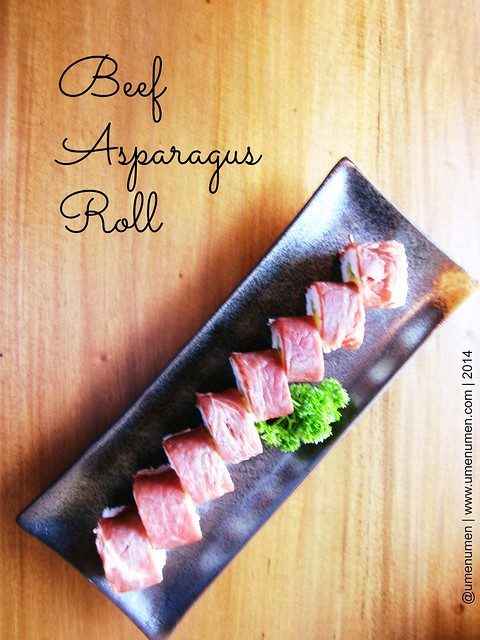Beef Asparagus Roll