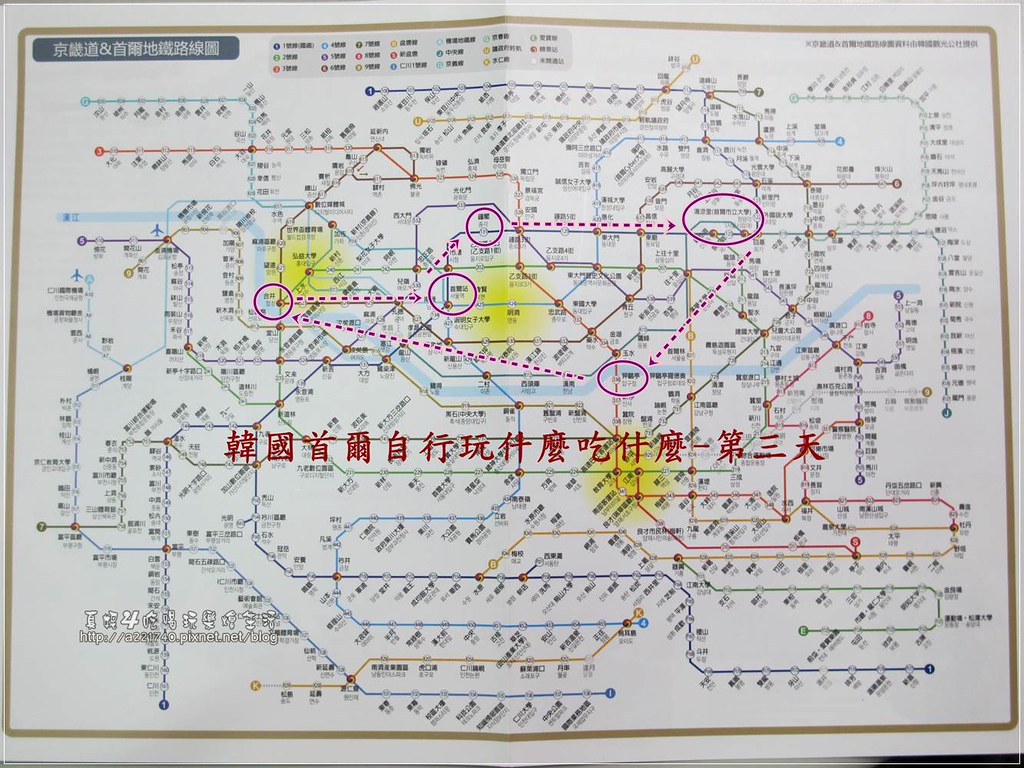 旅遊路線地圖